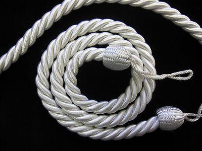2 Rope Curtain Tiebacks Slender Slinky Rope Cord Drape